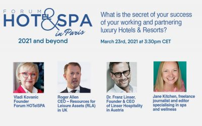 Webinar march 23rd, 2021 : What is the secret of your success of your working and partnering luxury Hotels & Resorts?